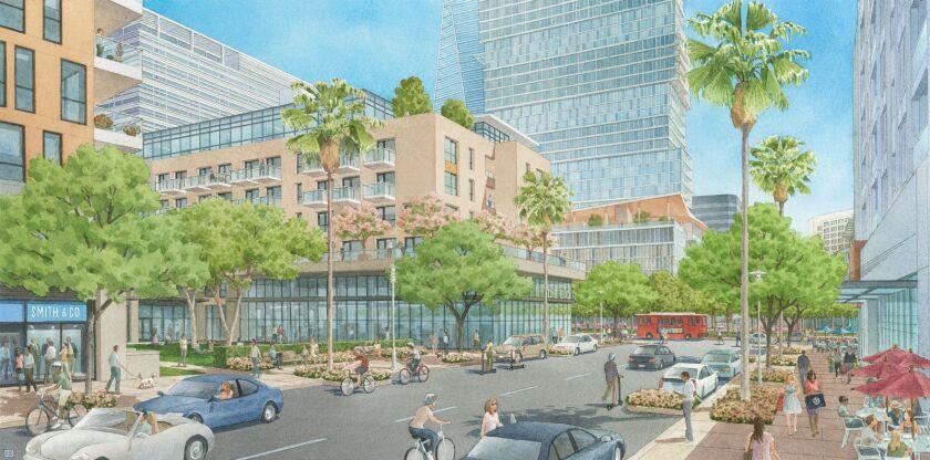 An artist's rendering of Westfield Promenade 2035