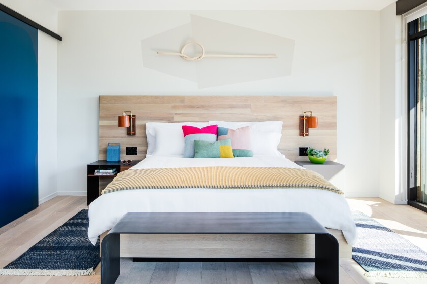 A guest room of the new Hotel San Luis Obispo.