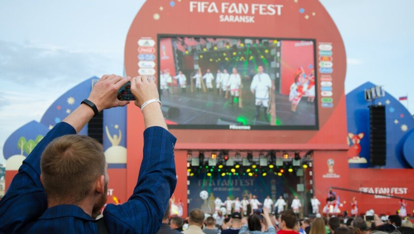 Los fans de todo el mundo ya haxen su fiesta en el 'fan fest' de Rusia 2018.