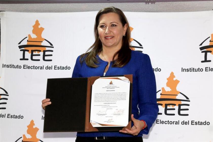 El Tribunal electoral del estado mexicano de Puebla ratificó hoy el triunfo de Martha Érika Alonso, del conservador Partido Acción Nacional (PAN) en los comicios para gobernador tras el recuento de la votación del pasado 1 de julio. EFE/Archivo