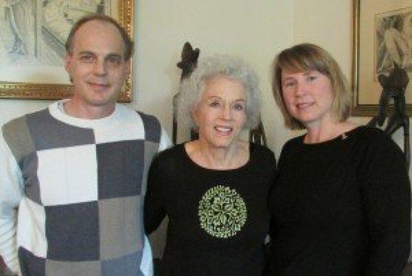 Neville Engelbrecht, Marianne McDonald and Bridget Brigitte McDonald III. Photo/Kristina Houck
