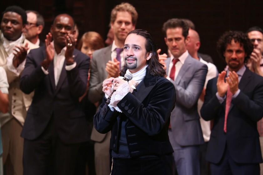 """Lin-Manuel Miranda in """"Hamilton."""""""