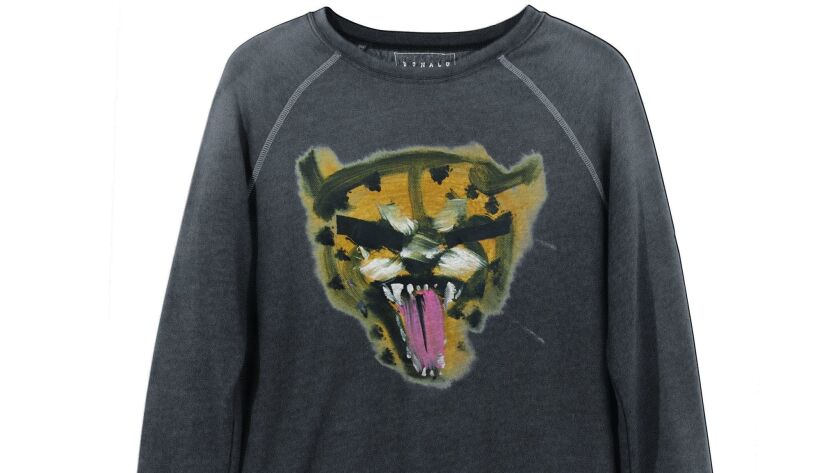 A look at a sweatshirt from the Donald: Junk Food Made Me Do It capsule collection.
