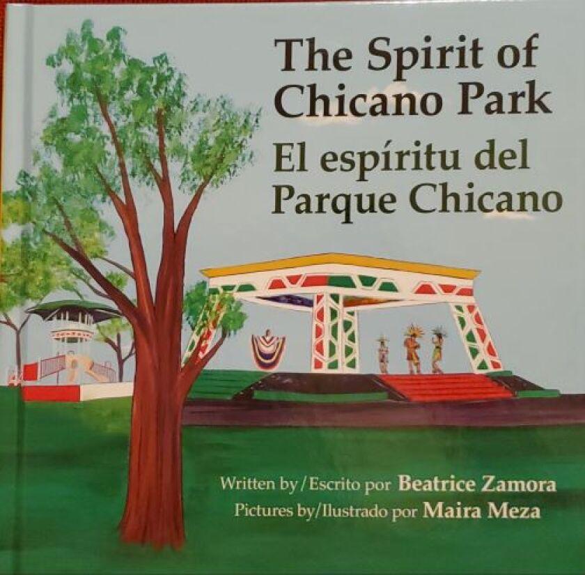 Portada del libro El espíritu del Parque Chicano, escrito por Beatrice Aguirre y editado por Tolteca Press