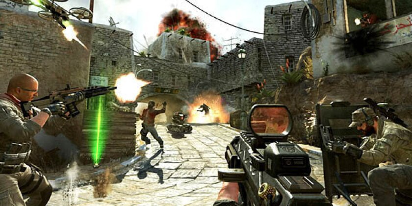 """Soldiers and terrorists battle in the streets of Yemen in a scene from """"Call of Duty: Black Ops II."""""""