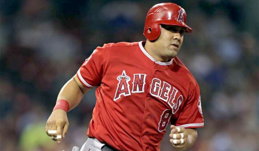 Former Angels designated hitter Kendrys Morales hit .277 with 23 home runs and a .785 OPS for the Seattle Mariners last season.