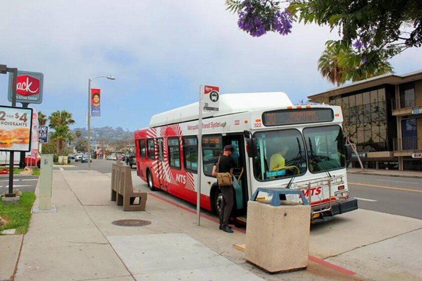 If the transit tax increase is approved by voters in November, it could bring a new Rapid Bus to run parallel to the existing MTS bus 30 route in La Jolla.