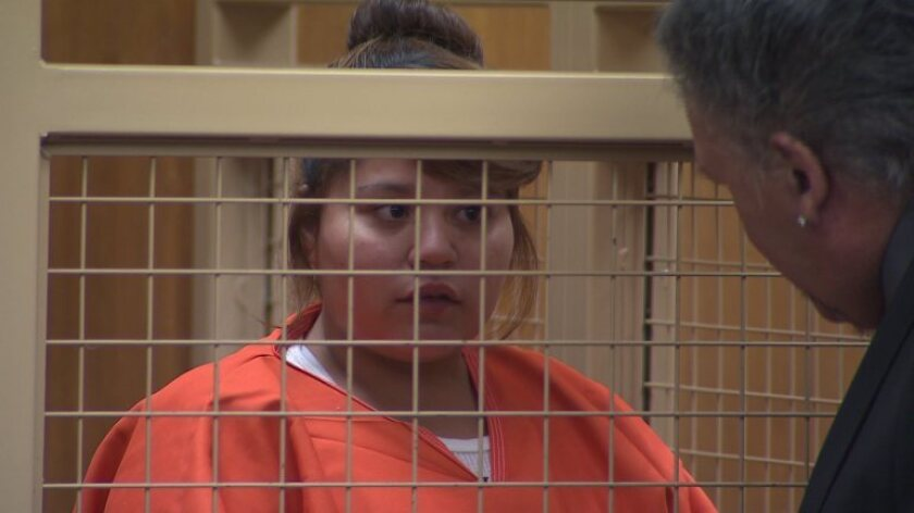 Michelle Betancourt, 23, shown at her arraignment on June 23, 2015. Betancourt was sentenced Tuesday to six years in state prison.