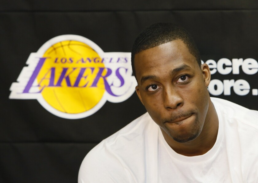 Lakers center Dwight Howard becomes an unrestricted free agent Sunday night.