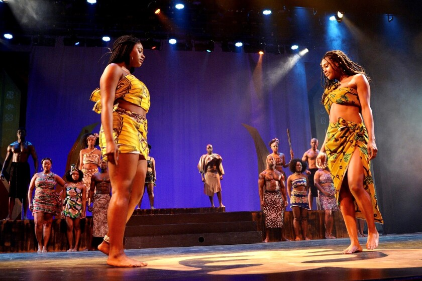 A performance at a past San Diego Kuumba Fest event at the Lyceum Theatre in San Diego.