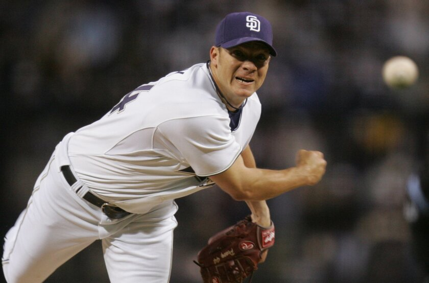 Starting pitcher and Cy Young Award-winner Jake Peavy starts against Houston for the Padres. Sean M. Haffey/Union-Tribune