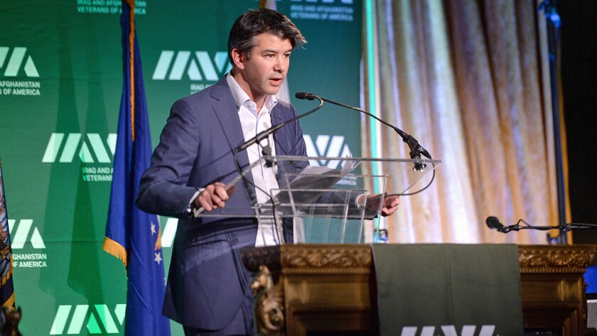 Uber Chief Executive Travis Kalanick, shown earlier this month in New York, offered apologies Tuesday after another Uber executive suggested a $1-million revenge campaign against certain journalists.