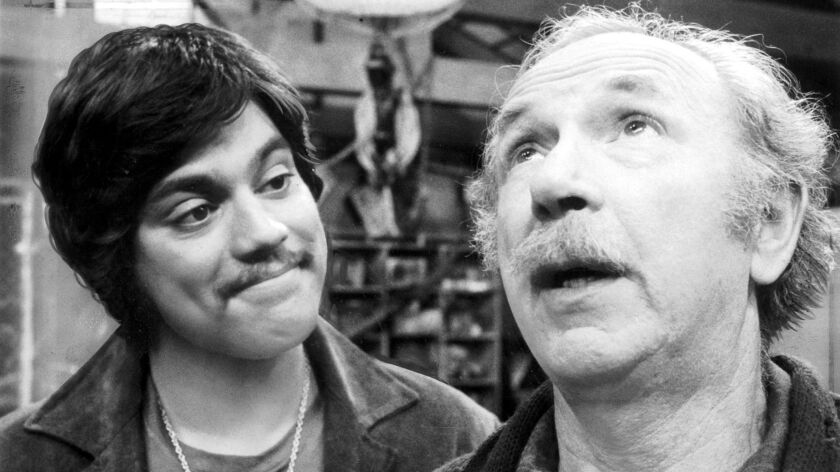 """Freddie Prinze, left, and Jack Albertson in """"Chico and the Man."""""""
