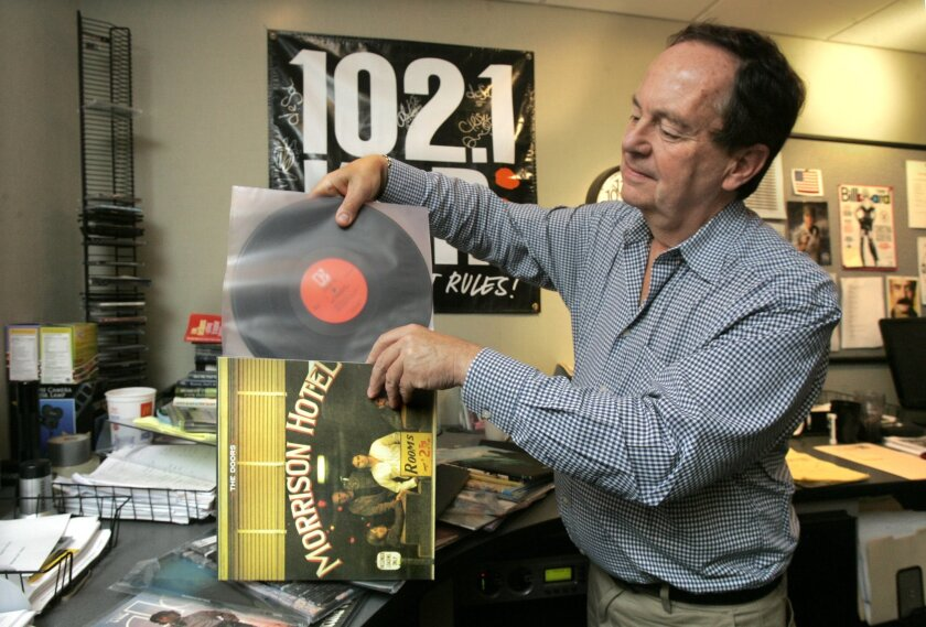 KPRI general manager Bob Hughes played vinyl albums for the station's Album Sides Wednesday feature. [U-T file]