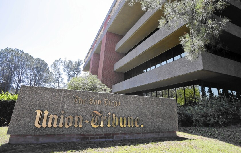 The San Diego Union-Tribune and the Los Angeles Times will share content and other resources.
