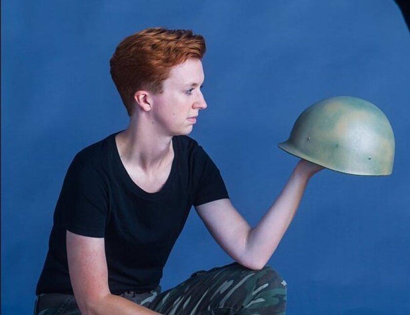 "Rae K. Hendersen stars in Moxie Theatre's ""Orange Julius."""