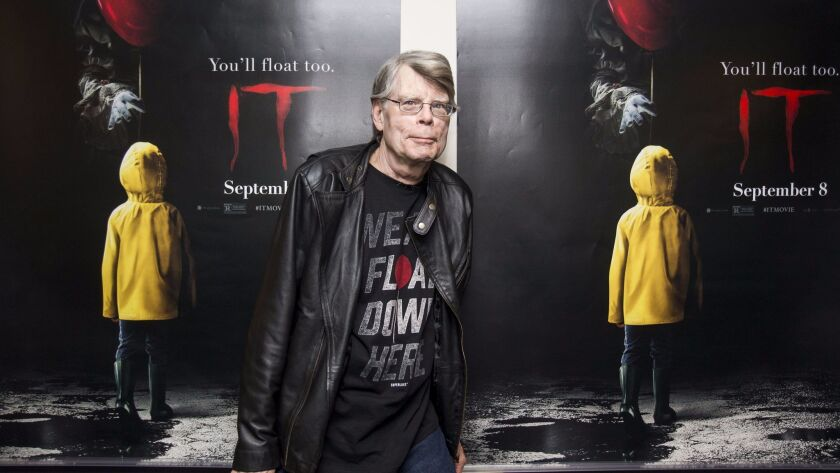 """Stephen King at a special screening of """"It"""" in Bangor, Maine."""