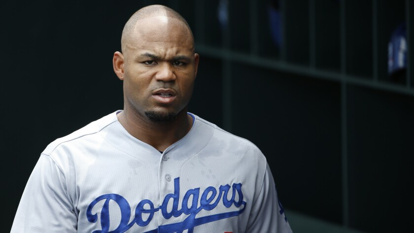 Dodgers left fielder Carl Crawford has been placed on the disabled list because of a sprained ankle.