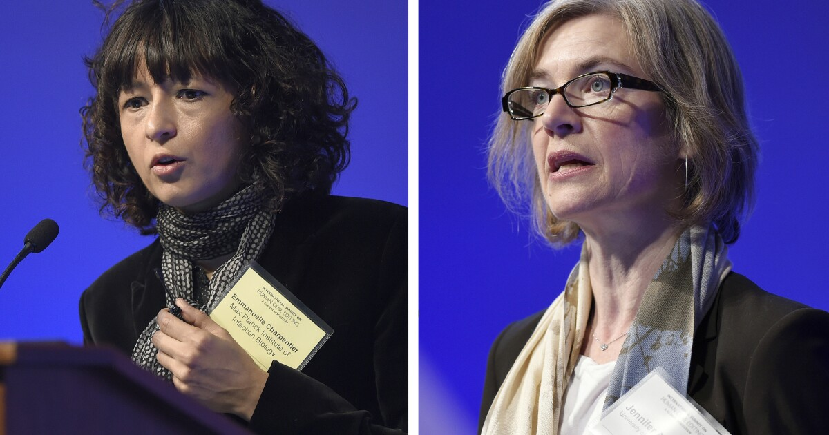 Two women win Nobel Prize in chemistry for work on CRISPR gene-editing system