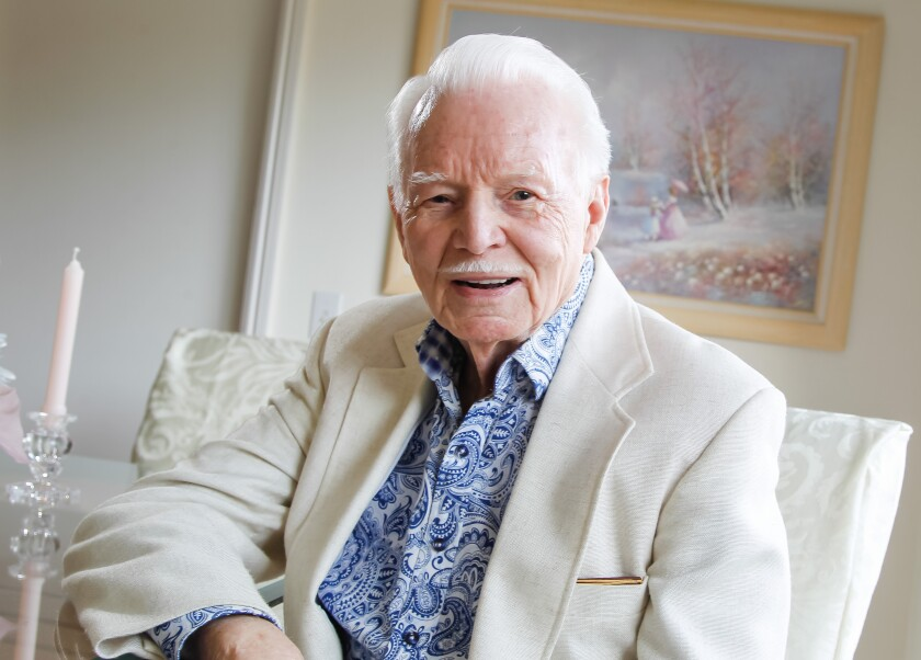 Stan Smith photographed at his Rancho Bernardo home in February 2017