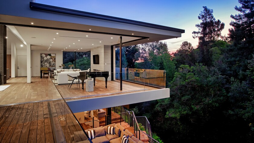 The French Regency-turned-contemporary house in Bel-Air makes the most of open-plan and open-air living spaces.