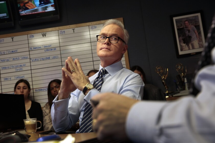 """CBS Evening News"" anchor and managing editor Scott Pelley."
