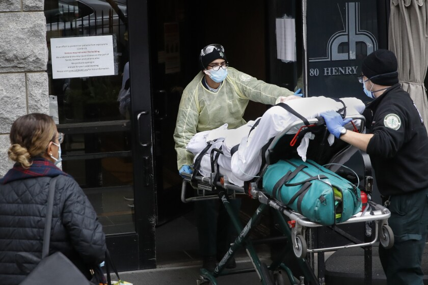 Virus Outbreak New York Nursing Homes