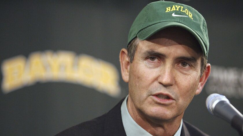 Art Briles is introduced as head football coach at Baylor on Nov. 28, 2007.