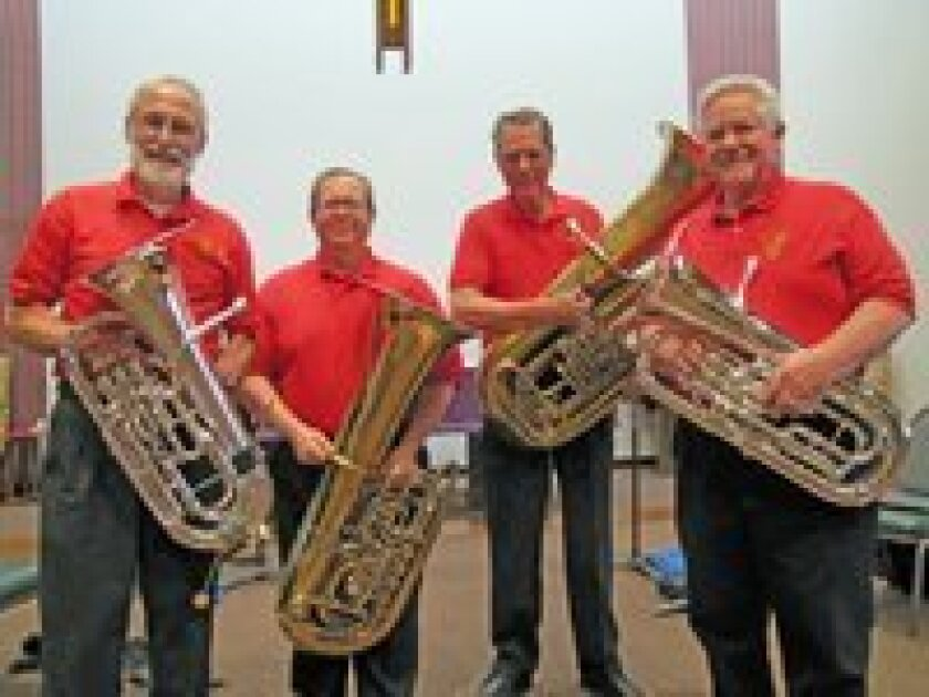 The TubaFours will perform at the Carmel Valley Library May 9.