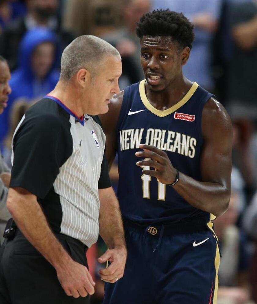 Jrue Holiday anotó 13 de sus 27 puntos en el último cuarto y los Pelicans de Nueva Orleans vencieron por 111-104 a los Grizzlies de Memphis. EFE/Archivo