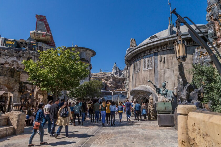 Star Wars: Galaxy's Edge at Disneyland Park in Anaheim, California. The immersive 14-acre land opens to the public on Friday, May 31.