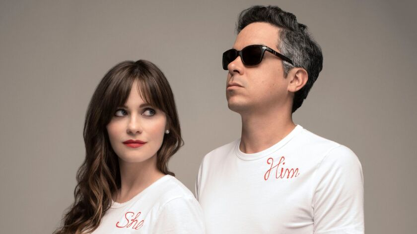 """Zooey Deschanel and M. Ward of She & Him have a new holiday album, """"Christmas Party."""""""