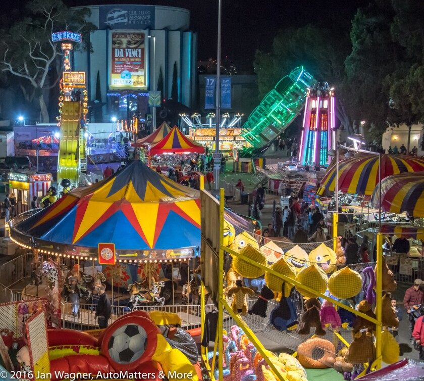 Carnival midway in Balboa Park