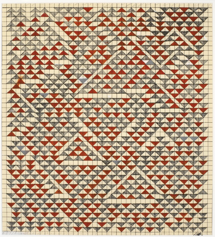 """Study for Camino Real,"" 1967, a drawing by Anni Albers."