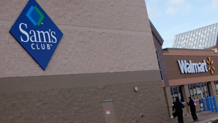 Sam's Club is laying off 2,300 employees. Above, a store in Rolling Meadows, Ill.