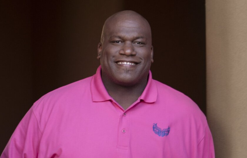 Former Chargers defensive tackle Tony Savage was diagnosed with breast cancer in 2011.