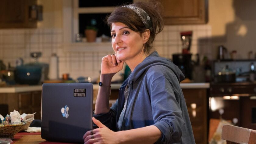 "Nia Vardalos as Sugar in ""Tiny Beautiful Things"" at Pasadena Playhouse."