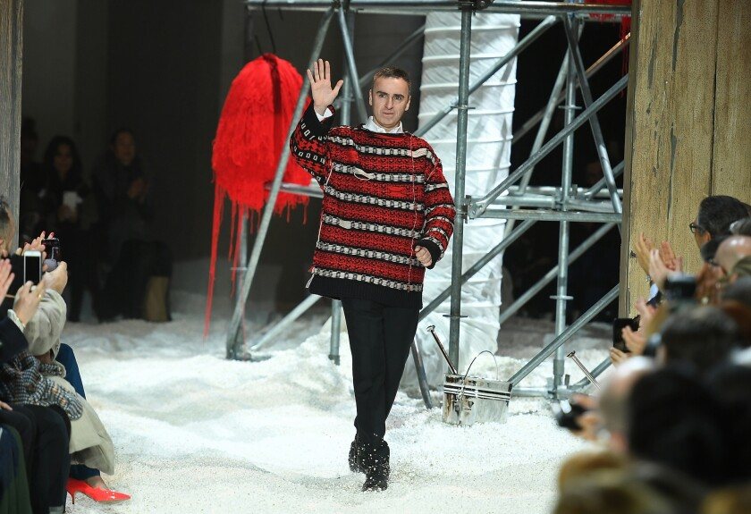 Raf Simons Joins Prada As The Label S Co Creative Director Los Angeles Times