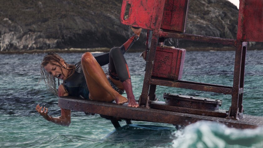 "Blake Lively in the movie ""The Shallows."""