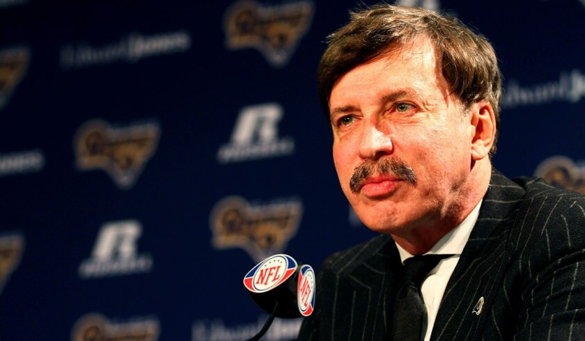 St. Louis Rams owner Stan Kroenke addresses media members on Jan. 17, 2012, in Earth City, Mo.