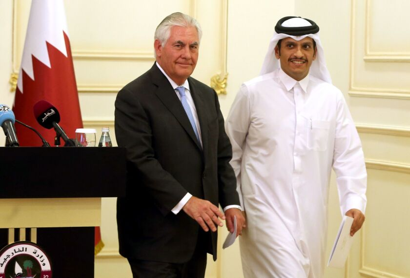 Tillerson in Qatar