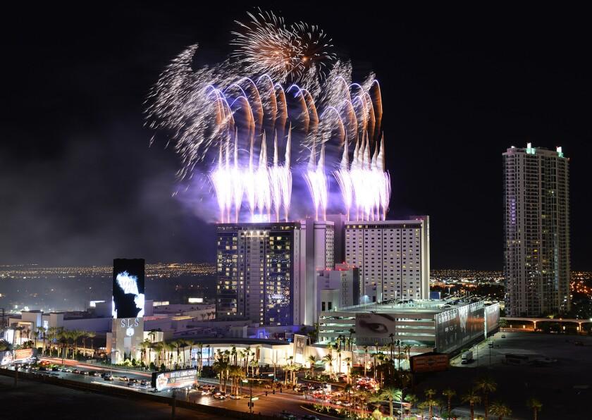 SLS Las Vegas, the newest Strip resort, opens its doors