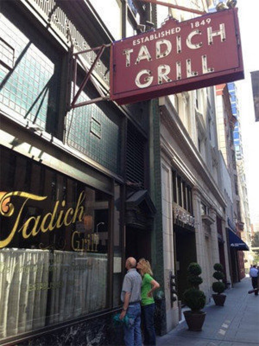 Tadich Grill, which describes itself as San Francisco's oldest continuously operating restaurant, plans to open a branch in Washington, D.C.