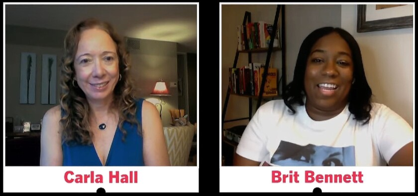 """Brit Bennett discusses """"The Vanishing Half"""" with writer Carla Hall and the L.A. Times Book Club."""