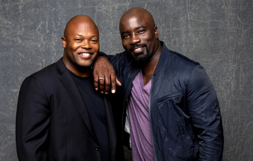 """Luke Cage's"" Cheo Hodari Coker and Mike Colter"