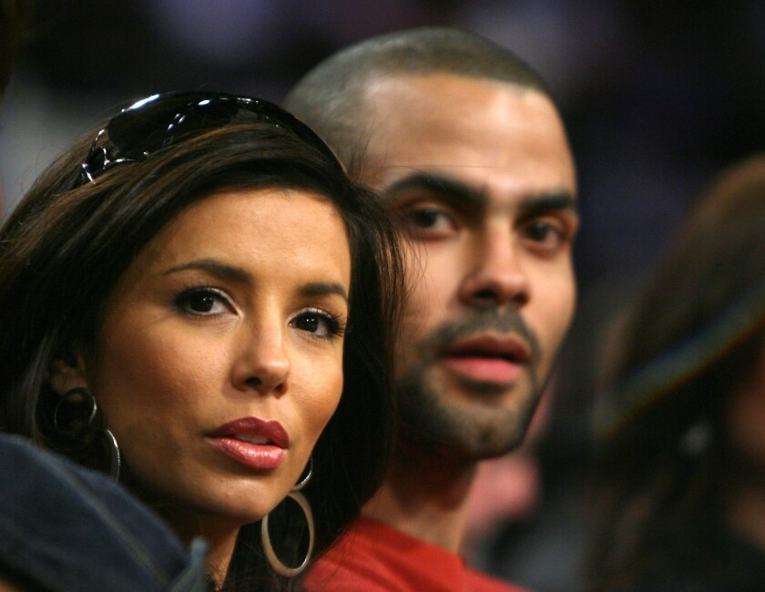 Eva Longoria and Tony Parker pre-divorce in February 2007.