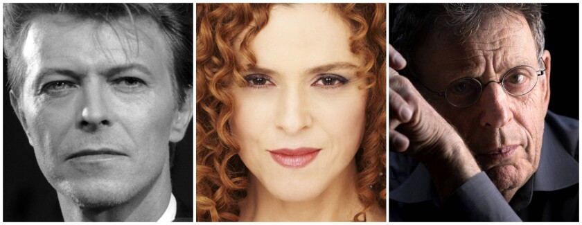 David Bowie, Bernadette Peters, Philip Glass