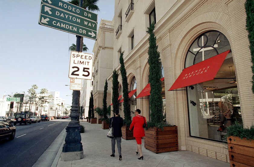 Barneys store in Beverly Hills
