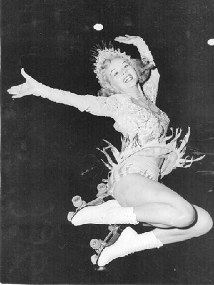 Gloria Nord, pictured in 1951, came to prominence in the early 1940s as the star of a roller revue and became known as the Sonja Henie of roller skating. A British promoter later made her an ice show star in London, and she performed regularly in England.