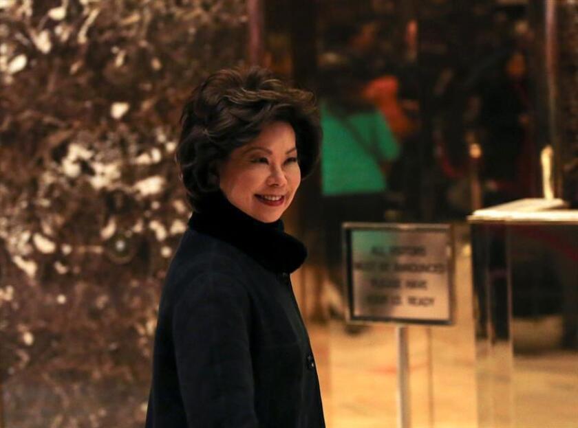 El equipo de transición presidencial confirmó hoy que Elaine Chao ha sido elegida para ser titular del Departamento de Transporte en el futuro Gobierno de Donald Trump, que asumirá el poder el 20 de enero próximo. EFE/ARCHIVO